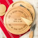 Personalised Dad Cheese Board And Knife Set