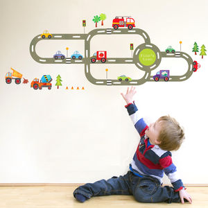 Childrens Road Wall Sticker Pack