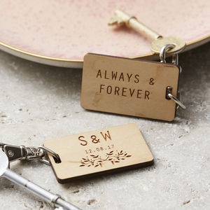 Initials Personalised Keyring - engagement gifts