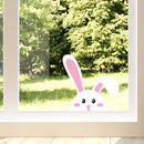 Easter Peeking Rabbit Window Sticker