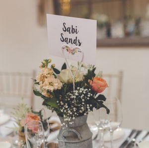 'Bloom' On The Day Wedding Stationery - table numbers