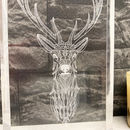 Acrylic Stags Head Artwork
