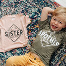 Personalised Baby Sibling Shirt Set