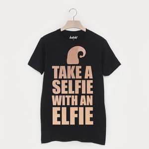 Take A Selfie With An Elfie Unisex Christmas T Shirt - christmas t shirts
