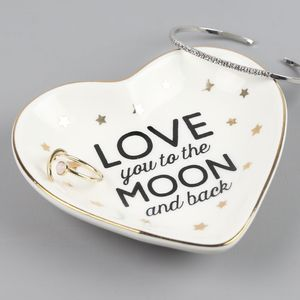 'Love You To The Moon' Dish - jewellery storage & trinket boxes