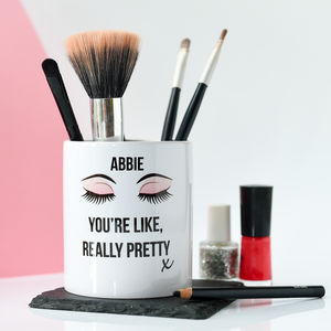 Personalised Make Up Brush Pot - valentine's gifts for her
