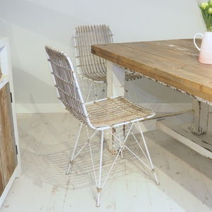 Rattan Scandi Style Dining Chair Three Colours - dining chairs