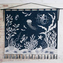 Seaside Hand Embroidered Wall Hanging