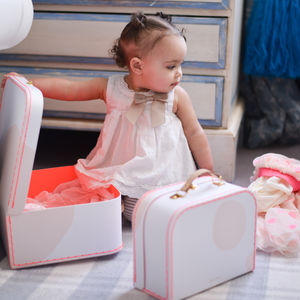 Personalised Polka Dot Suitcase - best gifts for girls