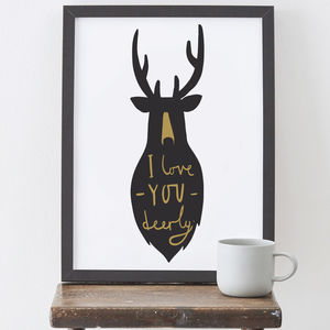Love You Deerly Print