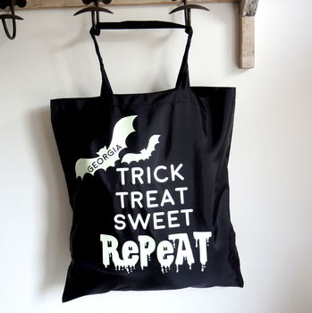 Personalised Glow In The Dark Trick Or Treat Bag