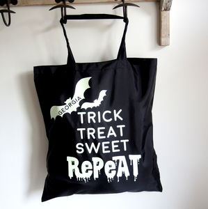 Personalised Glow In The Dark Trick Or Treat Bag - trick or treat bags