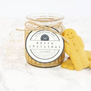Gingerbread Man Scented Christmas Soy Candle
