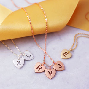 Personalised Initial Heart Necklace - winter sale