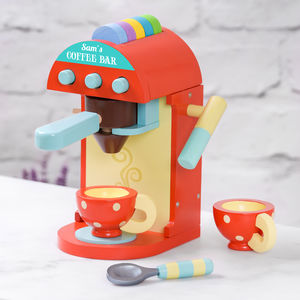 Personalised Children's Wooden Coffee Machine