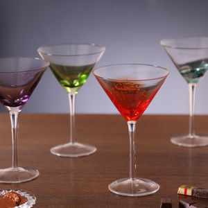Set Of Four Handblown Cocktail Glasses Gift Set - cocktail glasses