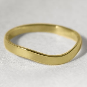18ct Gold Curved Wishbone 'Berridale' Wedding Ring - rings