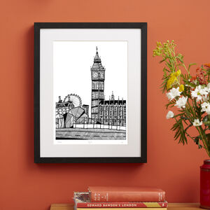 Big Ben, London Screen Print