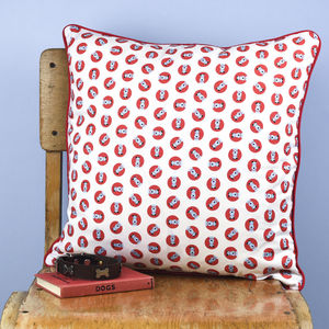 Dog Print Cushion - children's cushions
