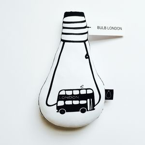London Bus Bulb Cushion