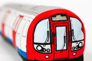 London Underground Tube Train Toy Cushion - baby's room
