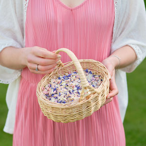 Flower Girl Basket Of Natural Petal Confetti