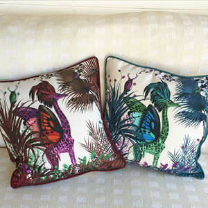 Tropical Giraffe Decorative Cushion