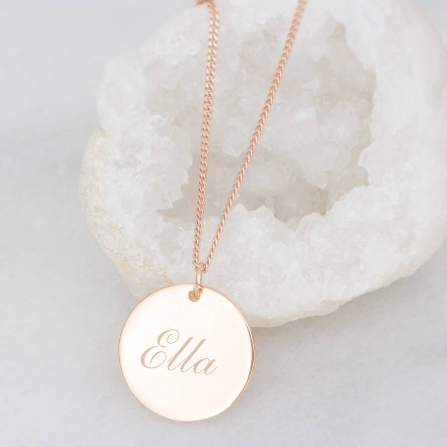 Personalised sterling silver initial disc necklace by bloom personalised sterling silver initial disc necklace aloadofball Gallery