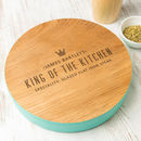Personalised Mens Premium Steamed Beech Serving Board