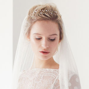 Flexible Flower Wedding Hair Vine - tiaras & hair combs