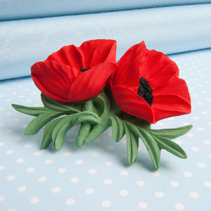 Double Poppy Brooch - pins & brooches