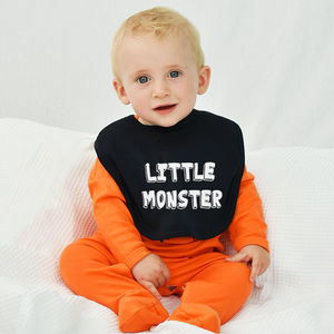 'Little Monster' Halloween Baby Bib - baby & child sale