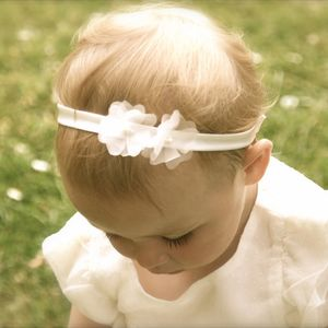 Ophelia Silk Flower Girl, Baby, Christening Hairband - christeningwear