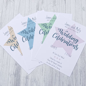 Super Star Wedding Stationery Range