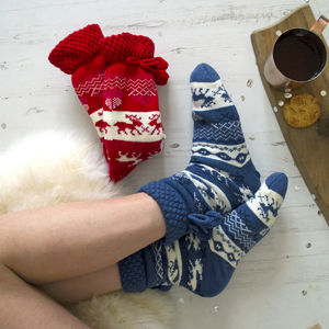 Scandi Style Lined Slipper Boots