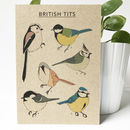 'British Tits' Recycled Bird Card