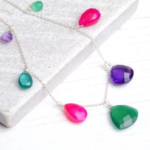Bright Boho Gemstone Necklace - necklaces & pendants