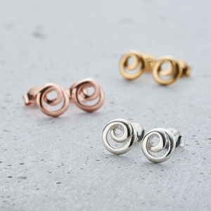 Mini Loop Stud Earrings