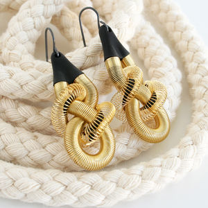 Contemporary Knotted Textured Earrings