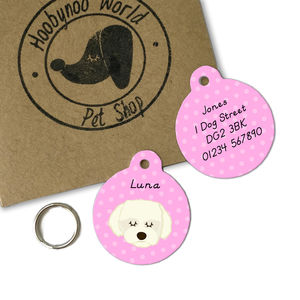 Coton Du Tulear/Maltese Terrier Personalised Dog ID Tag - dogs