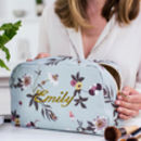 Personalised Golden Bird Wash Bag