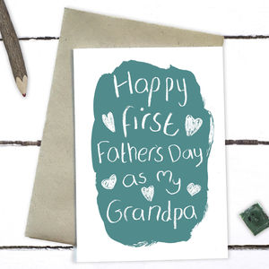 First Father's Day As My Grandpa Card - father's day cards