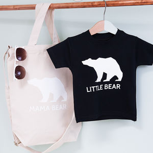 Mummy And Little Bear Tote And Tshirt Set