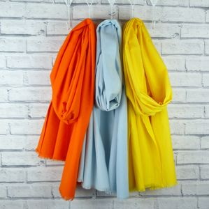 Oversized Scarf Orange, Pale Blue, Yellow - mens