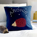 Hedgehog Personalised Glow In The Dark Cushion