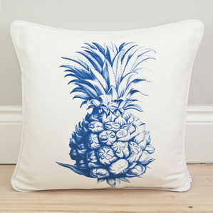 Pineapple Print Motif Cushion - bedroom
