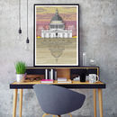 St. Paul's Cathedral Sunset Architectural Print