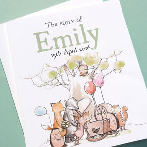 Personalised New Baby Story Book - personalised gifts for babies