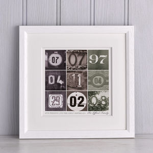 Dates To Remember Print - personalised gifts