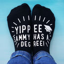 Personalised Yippee Degree Socks